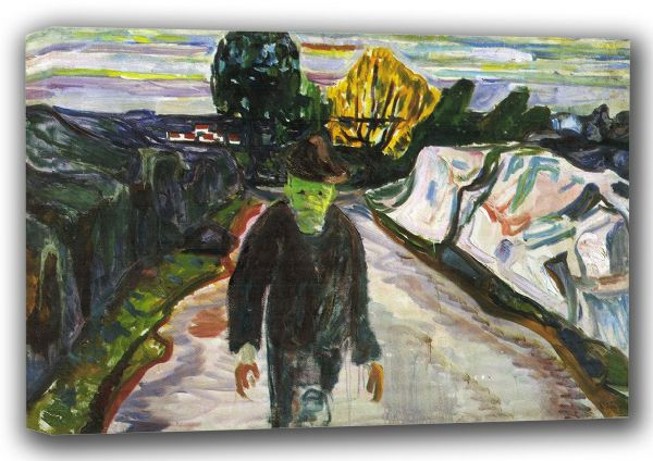 Munch, Edvard: The Murderer. Fine Art Canvas. Sizes: A3/A2/A1 (00909)